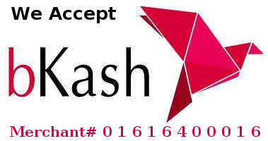 Please always Use the PAYMENT option (option no: 3) to send money to Our bKash Merchant Account: 01616400016